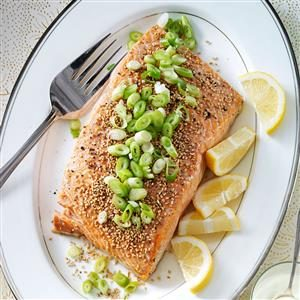 Sesame Salmon with Wasabi Mayo