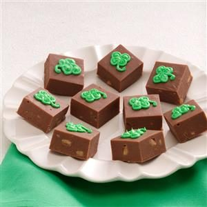 Shamrock Toffee Fudge