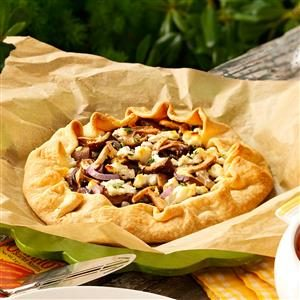 Shiitake & Goat Cheese Rustic Tart Recipe