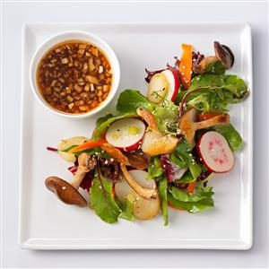 Shiitake Salad with Sesame-Ginger Vinaigrette