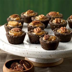 Shortcut Coconut-Pecan Chocolate Tassies Recipe