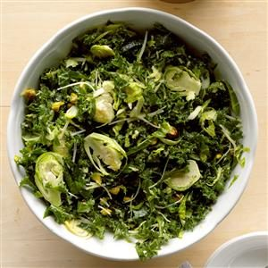 Shredded Kale and Brussels Sprouts Salad Recipe