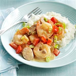 Shrimp & Chicken Sausage with Grits Recipe