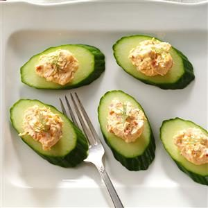 Shrimp & Feta Cucumber Rounds Recipe