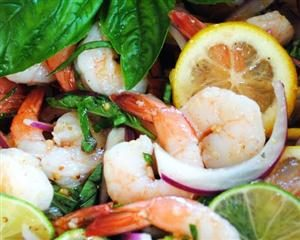 Pickled Shrimp with Basil