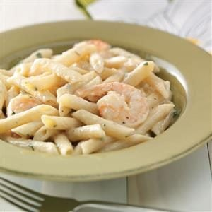 Shrimp Penne with Garlic Sauce for Two Recipe