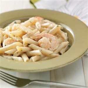 Shrimp Penne with Garlic Sauce Recipe