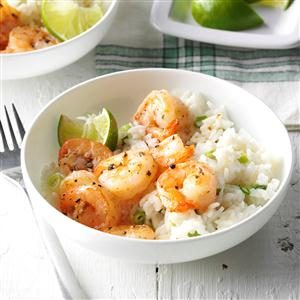 Shrimp with Coconut Rice Recipe