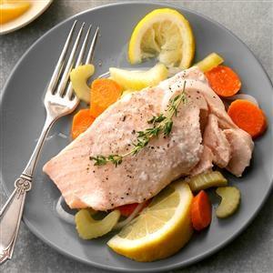 Simple Poached Salmon Recipe