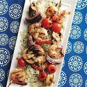 Skewered Shrimp & Vegetables Recipe