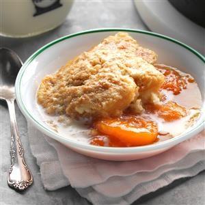 Skillet Caramel Apricot Grunt Recipe