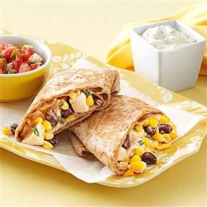 Skillet Chicken Burritos Recipe