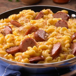 Skillet Mac & Cheese & Kielbasa