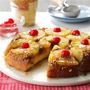 Skillet Pineapple Upside-Down Cake Recipe