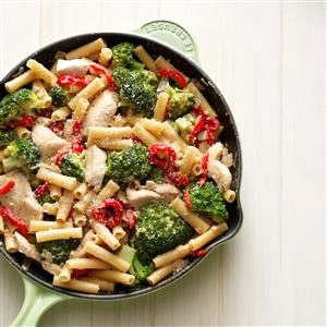 Skillet Ziti with Chicken and Broccoli Recipe