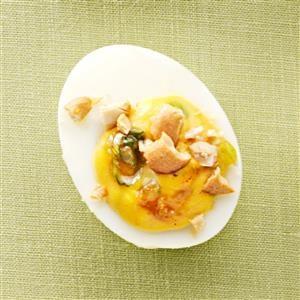 Slim Chutney Deviled Eggs Recipe