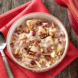 Slow-Cooked Fruited Oatmeal with Nuts Recipe