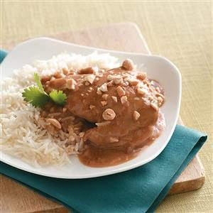 Slow-Cooked Thai Peanut Chicken Recipe