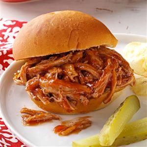 Slow Cooker Barbeque Pulled Pork Sandwiches