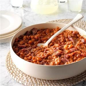 Slow Cooker BBQ Baked Beans Recipe