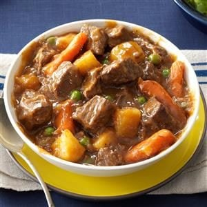 Slow Cooker Beef Vegetable Stew Recipe