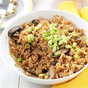 Slow Cooker Mushroom Rice Pilaf Recipe
