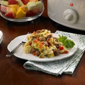 Slow Cooker Overnight Breakfast Casserole Recipe