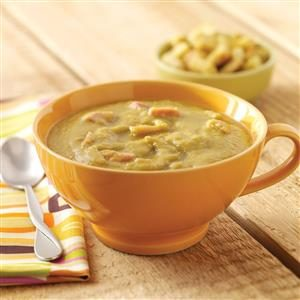Slow Cooker Split Pea Soup with Carrots and Ham Hocks Recipe