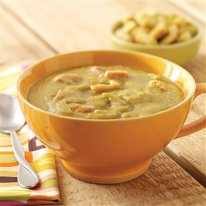 Slow Cooker Split Pea Soup with Ham Hocks Recipe