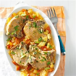 Slow Cooker Tropical Pork Chops Recipe