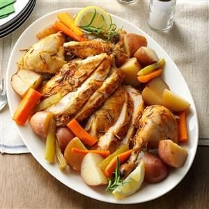 Slow-Roasted Chicken with Vegetables