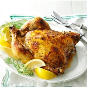 Slow-Roasted Lemon Dill Chicken Recipe