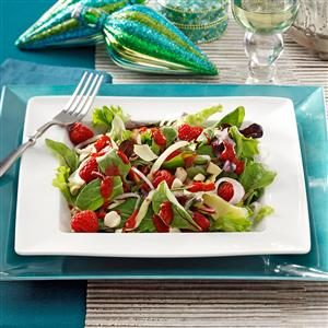 Smoked Gouda & Raspberry Salads Recipe