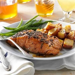 Smoked Honey-Peppercorn Salmon Recipe