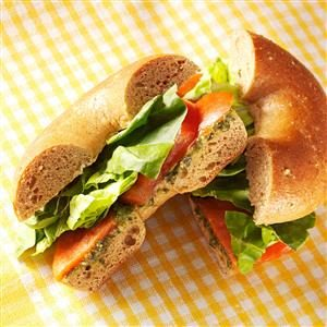 Smoked Salmon Bagel Sandwiches Recipe