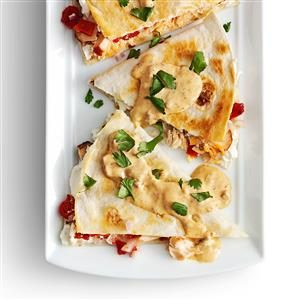 Smoked Salmon Quesadillas with Creamy Chipotle Sauce Recipe