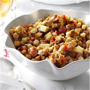 Smoked Sausage & Potato Dressing Recipe