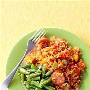 Smoked Sausage Jambalaya Recipe photo by Taste of Home