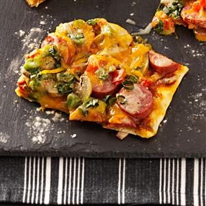 Smoked Turkey Sausage Pizza Recipe