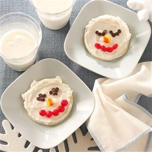 Snowman Sugar Cookies Recipe