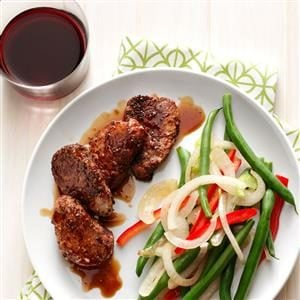 Spiced Pork Medallions with Bourbon Sauce Recipe