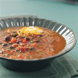 Spicy Black Bean Soup Recipe