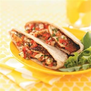 Spicy Chicken Tomato Pitas for Two Recipe