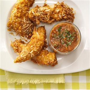 Spicy Coconut Chicken Strips Recipe