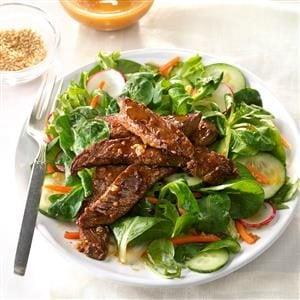 Spicy Mongolian Beef Salad Recipe