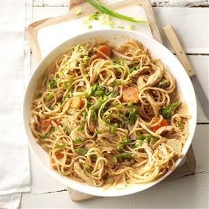 Spicy Peanut Chicken & Noodles
