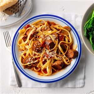 Spicy Sausage Fettuccine Recipe
