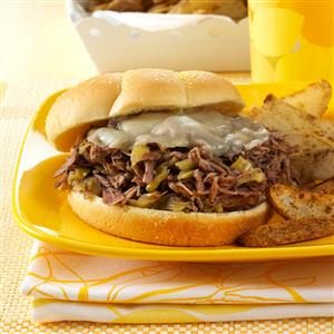 Spicy Shredded Beef Sandwiches Recipe