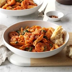 Spicy Shrimp & Penne Pasta Recipe