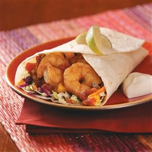 Spicy Shrimp Wraps Recipe